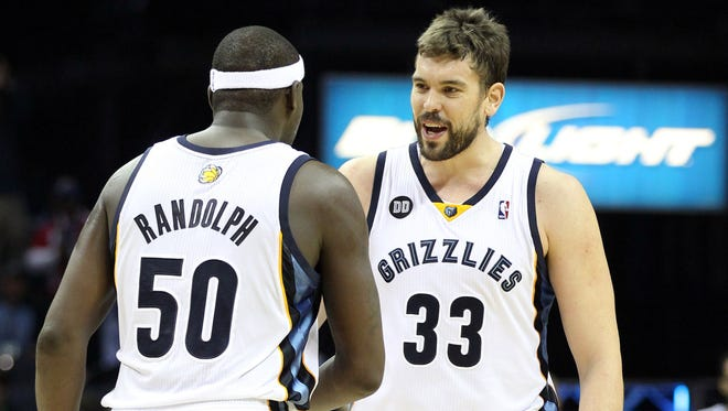 Randolph and Gasol have been one of the NBA's best frontcourts in recent years.