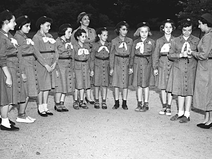 Vineland Girl Scout Troop 73 on Spring Road during