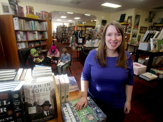 Suzanna Hermans, co-owner of Oblong Books in Rhinebeck and Millerton, photographed at her Rhinebook store Feb. 21, 2017. Her stores are the largest independent bookstores between New York City and Albany. She has sat on the the boards of the New England Booksellers Association and the Children's Book Association, as well being a co-founder of the Hudson Valley YA Society, which has seeks to sustain teens' love of reading through the high school years.