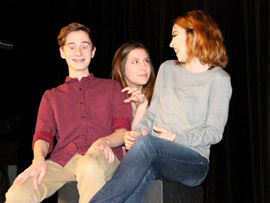 "Bryce Thompson, Mikayla Westfall and Kari Zuniga all star in the play ""Ameila Once More"" that will be performed on Feb. 16 at 7p.m. at the Carlsbad High School Little Theater."