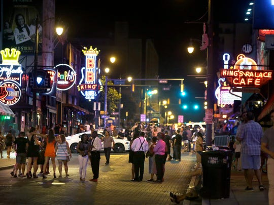 Beale Street during the Beale Street Bucks program on June 12, 2016.