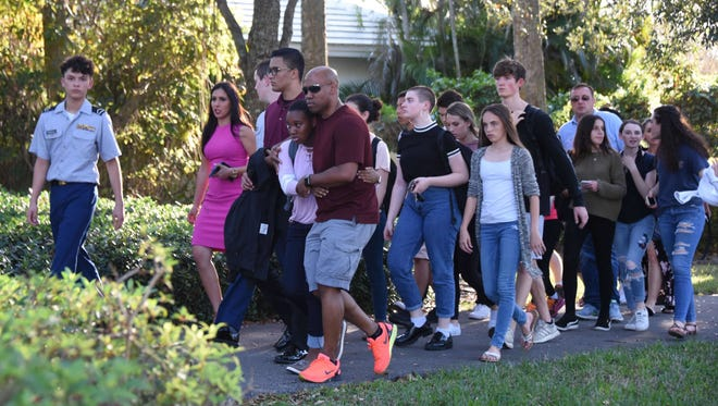 Students returned to classes at Marjory Stoneman Douglas High School in Parkland, Fla. But following the shooting there, the mindset of parents and community members has shifted to protection.