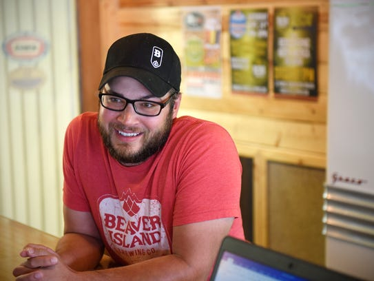 Beaver Island Brewing Co. co-founder Nick Barth talks Wednesday, Sept. 7, about plans for the upcoming Oktoberfest event in St. Cloud.