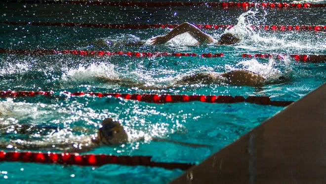 High School swimmers compete at the Canyon View Invitational at the SUU Natatorium on Friday.