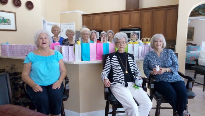 The Torchbearer Zeta Chapter of Beta Sigma Phi recently donated Easter bags for Hope House.