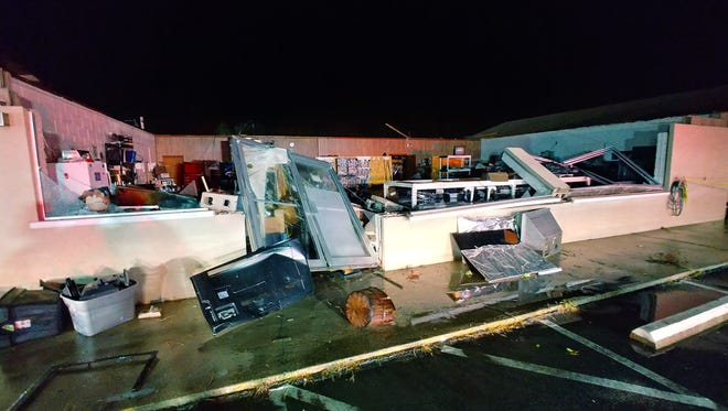 Three Gulf Breeze businesses were heavily damaged in a weather related incident on Sunday night.