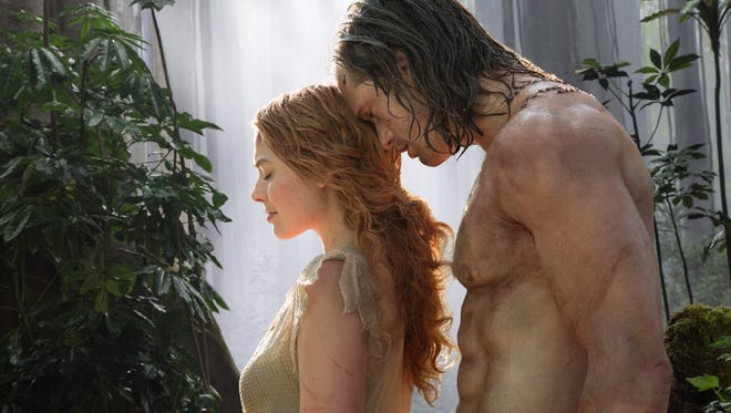 Intimate... or cheesy? Jane and Tarzan share a moment in 'Legend of Tarzan.'