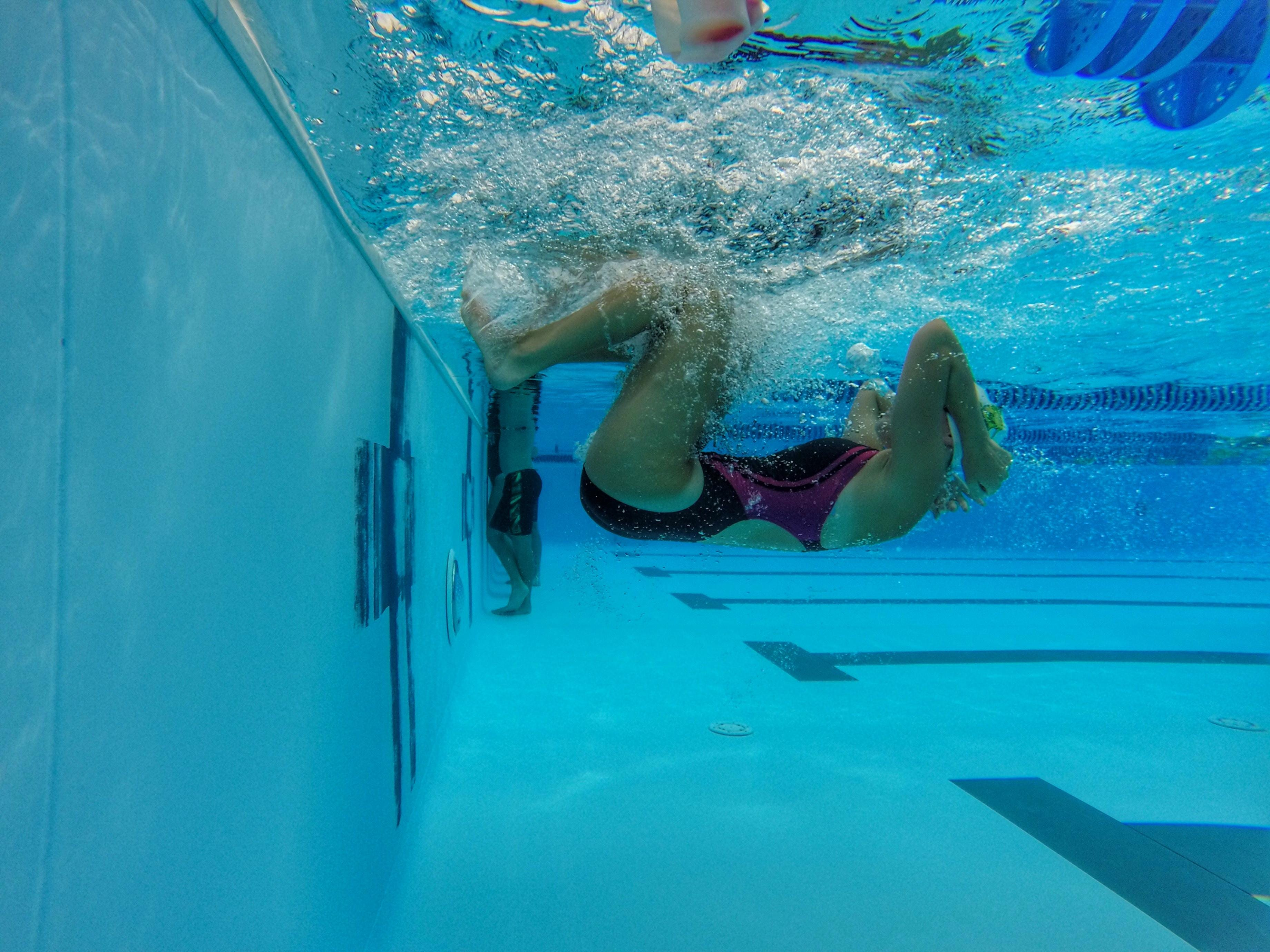 Lincoln swimmer Leah Wirgau practices her turns off the wall during a recent practice at Jack McLean Park's pool.
