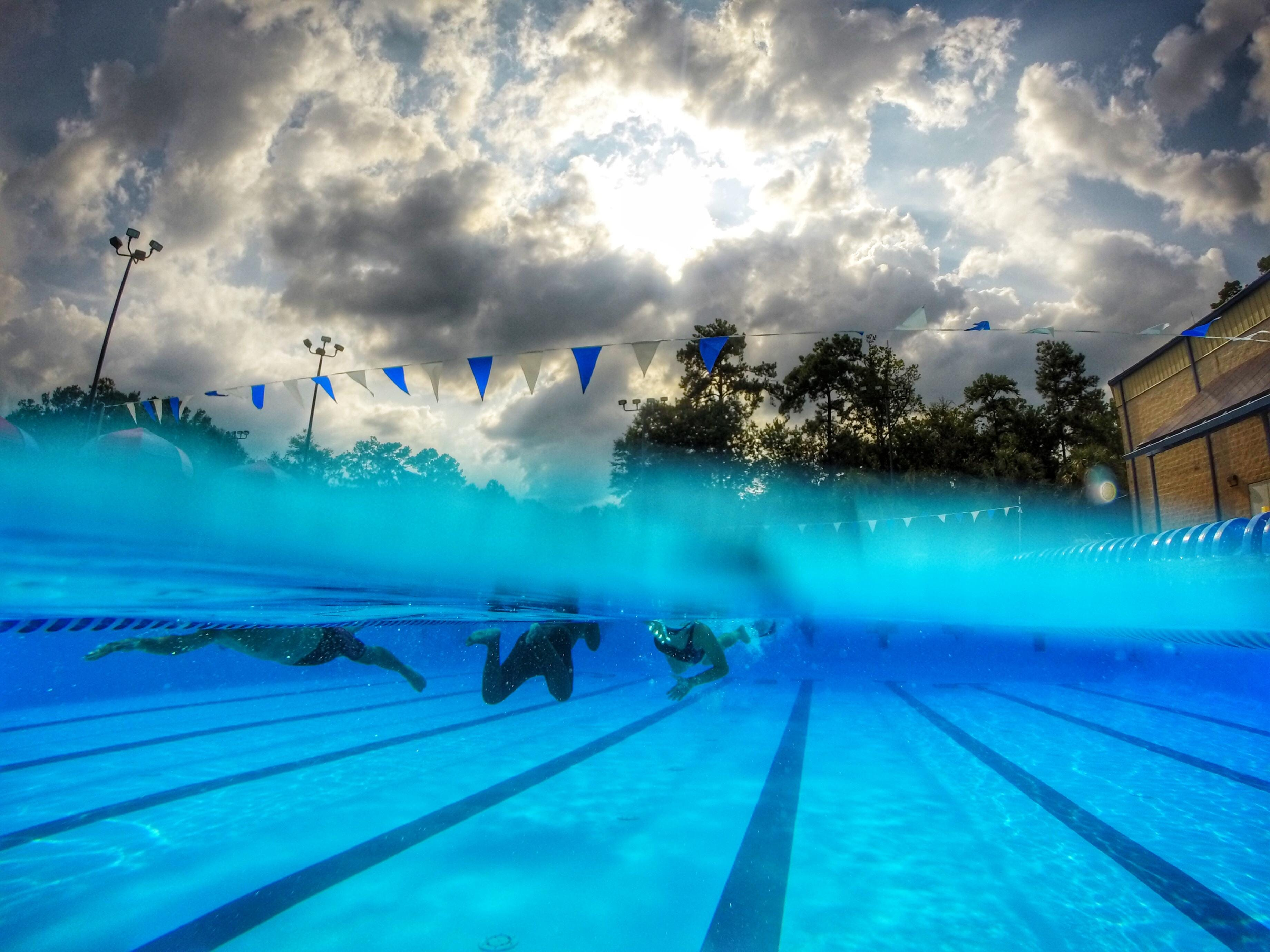 It was a beautiful day of swim practice for the Lincoln Trojans at Jack McLean Park pool recently.