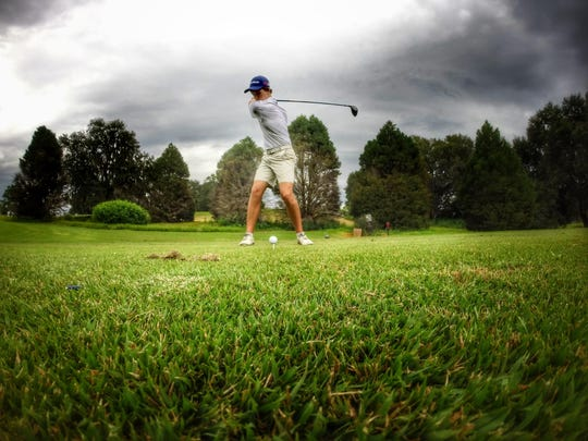 Maclay sophomore Bryson Bianco uncorks driver during a round at Seminole Golf Course last week.