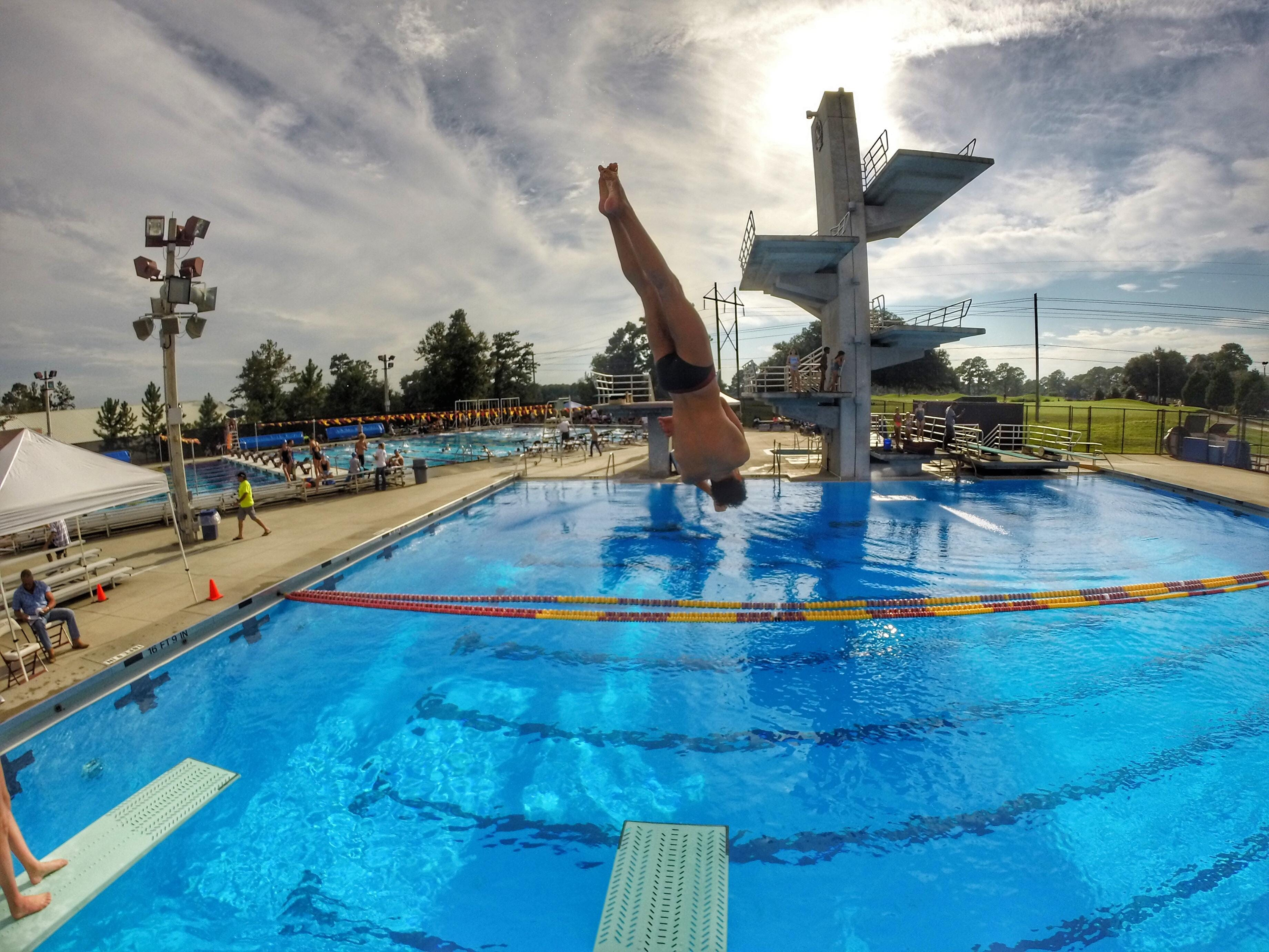 Chiles diver Chase Lane rotates his body in the air to perform his dive at FSU's Morcom Aquatic Center on Tuesday.