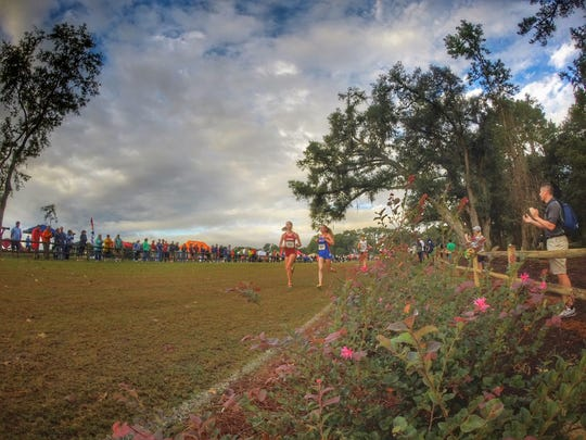 Chiles senior Emma Tucker navigates the terrain of Apalachee Regional Park during Saturday's FSU Invitational.