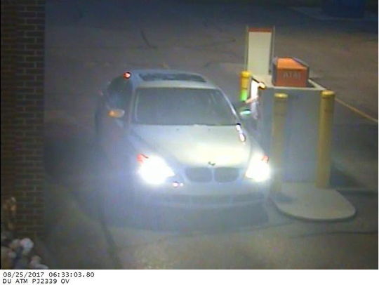 Car driven by a suspect using an ATM card stolen from