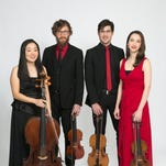 The Bryant Park Quartet is Anna Elashvili, Tomoko Fujita, Ben Russell and Nathan Schram.