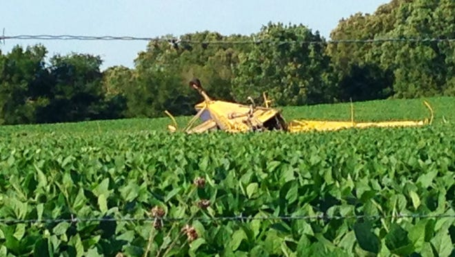 A man was killed when a crop duster crashed near Parsons this afternoon.