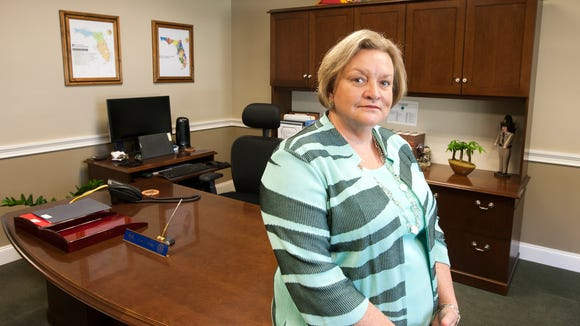 Julie Jones, Secretary of the Florida Department of Corrections in her office in the Carlton Building in downtown Tallahassee, Florida October 15, 2015.