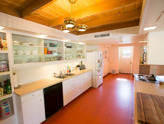 Kitchen of the midcentury modern home in Phoenix on