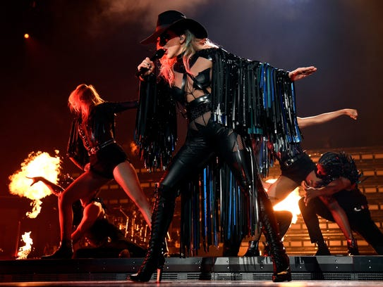 "Lady Gaga performs onstage during the ""Joanne"" World"