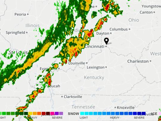A radar image at 7 a.m.