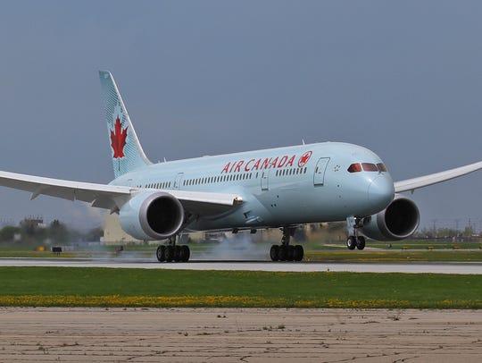 File photo of an Air Canada plane.