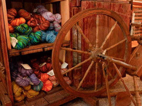 Yarn made from wool is for sale at Hidden Valley Farm
