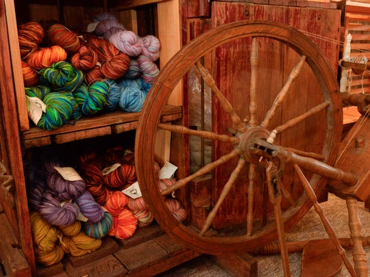 Yarn made from wool is for sale at Hidden Valley Farm and Woolen Mill in rural Valders.