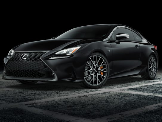 Lexus shows the blacked-out version of its RC F sports