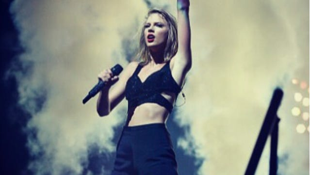 Taylor Swift: She's on top.