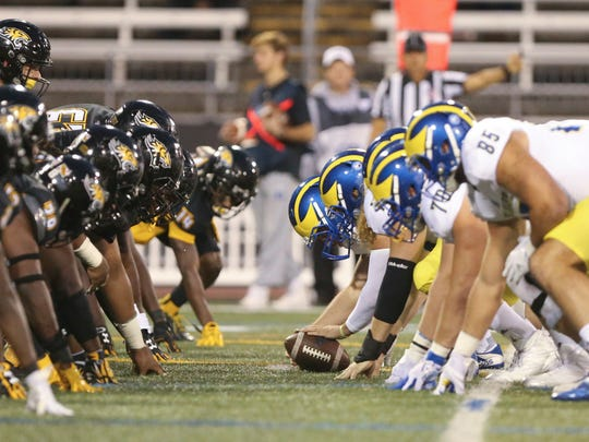 Towson and Delaware have become football rivals.