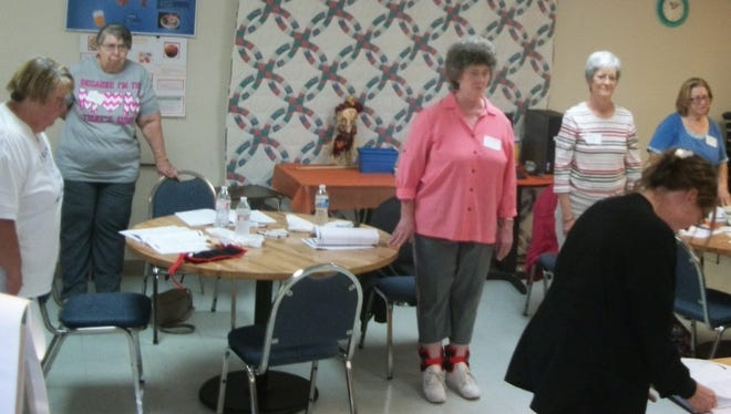 Seniors at the Stewart County Senior Citizen Center participate in the exercise portion of the new Stepping On Class at the Center.