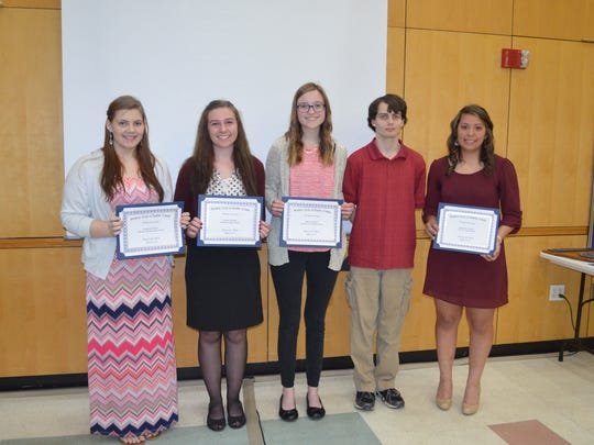 The Rotary Club of Battle Creek recently honored students