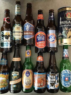"""Oktoberfest beers are traditionally brewed in the spring to drink in the fall. The original Marzen style translates to """"March"""" in German."""