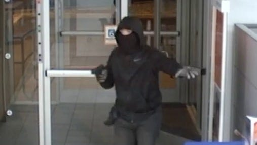 Evesham Township police are searching for a man who robbed the PNC Bank on Greentree Road on Dec. 8.