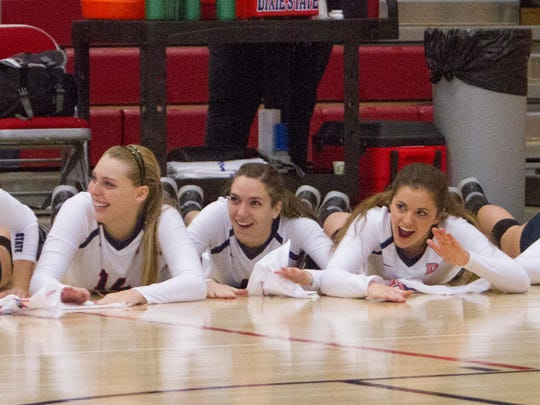 Dixie State volleyball takes on Fresno Pacific Saturday, Nov. 21, 2015.