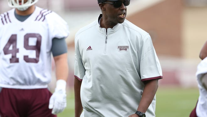 Mississippi State defensive line coach Brian Baker still adjusting to the college game.