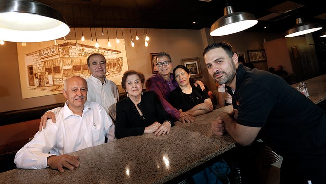 The Lepe family, the family behind Lucy's famous machaca and tacos Antonia. They are, from left, Albert Lepe, Gustavo Lepe, Lucy Lepe, founder of the restaurant, David Lepe, Minda Lepe and Joshua Lepe.