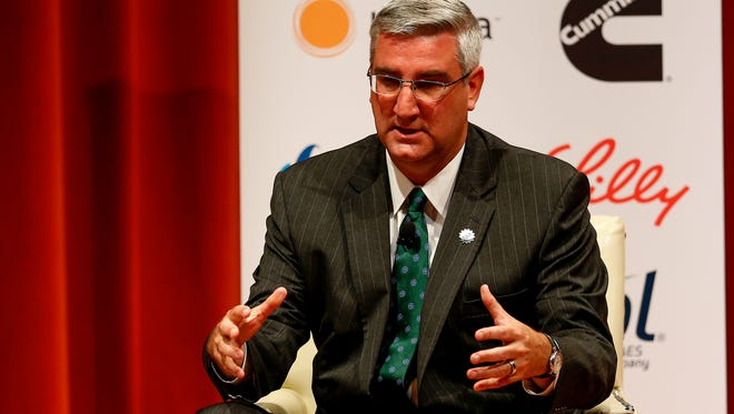 Eric Holcomb, shown in a file photo, unveiled his economic agenda Tuesday.