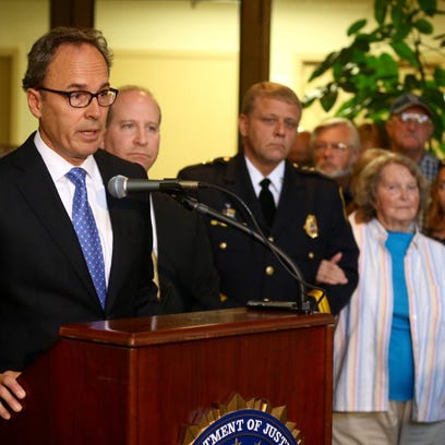 US Attorney William Hochul speaks at press conference