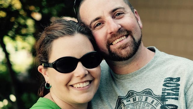 Brendon Cousino of Richmond and his wife, Heidi.