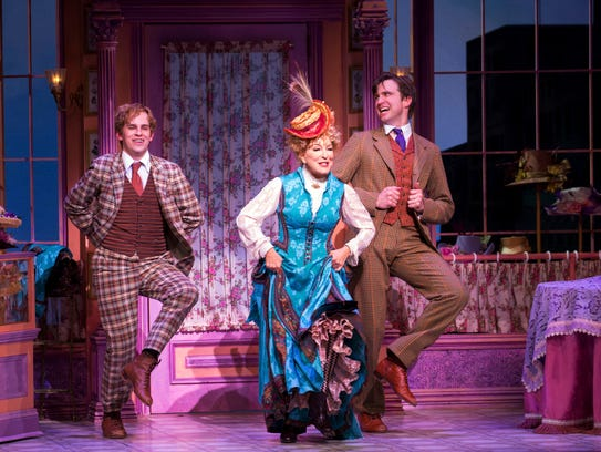 Taylor Trensch, from left, Bette Midler, and Gavin