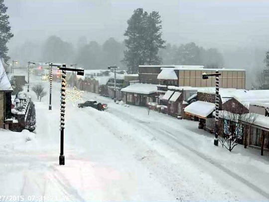 The village of Ruidoso webcam shows conditions during the height of the storm Sunday.