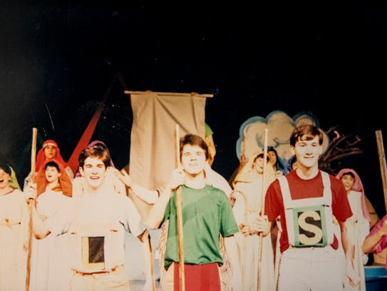 Andy Blankenbuehler (left) performs in Joseph and the