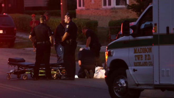 The Mansfield police and fire departments, along with the Madison Township Fire Department, were called to a suspected drug overdose at the intersection of West First and Wood Street on Wednesday evening.