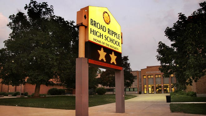 The sign outside Broad Ripple High School Tuesday, May 31, 2011.