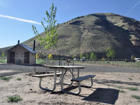 Lone Tree Campground gets its name from a single native juniper.