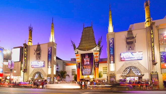 The world-famous Chinese Theatre is an icon of Old Hollywood glamour.