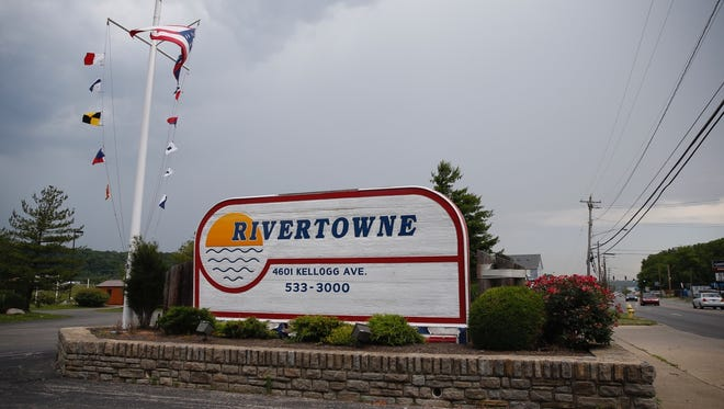 The entrance to Rivertowne Marina in the East End.