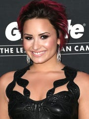"Recording artist Demi Lovato on Feb. 27, 2014, attends ""united4:humanity"" at Sony Pictures Studios in Culver City, Calif."