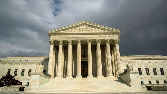 The U.S. Supreme Court building is seen on Capitol Hill in Washington, D.C.
