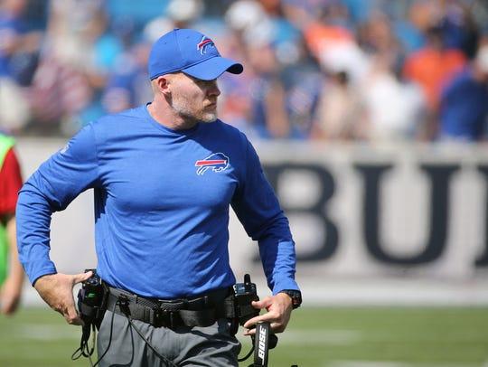 Bills head coach Sean McDermott on the sideline of